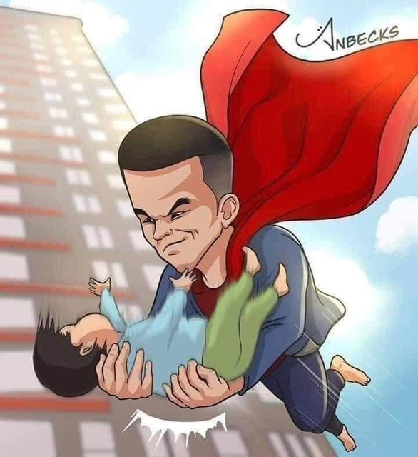 Dân mạng cảm phục người hùng cứu cháu bé rơi từ tầng 12 - Ảnh 1.