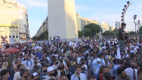 Người dân Argentina đòi công lý cho Maradona - Ảnh 1.