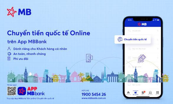 MB ra mắt tính năng 'Chuyển tiền quốc tế Online' trên APP MBBank - Ảnh 1.