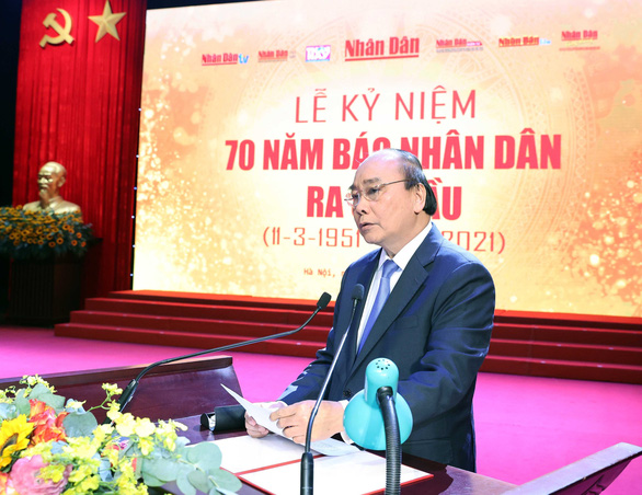 Tổng bí thư, Chủ tịch nước Nguyễn Phú Trọng chúc mừng báo Nhân Dân kỷ niệm 70 năm ra số đầu tiên - Ảnh 2.
