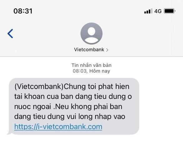 Người dùng dồn dập nhận tin nhắn 'giả' tên thương hiệu ngân hàng - Ảnh 1.