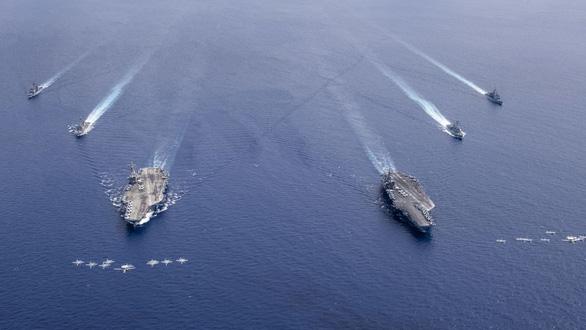 Báo Trung Quốc: Mỹ hoạt động quân sự ở Biển Đông nhiều chưa từng thấy - Ảnh 1.