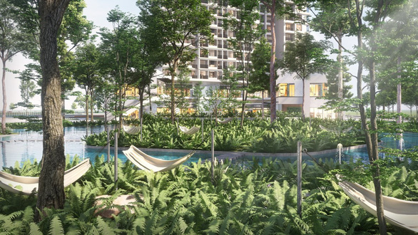 Ecopark làm công viên ngàn tỉ phục vụ 2 toà tháp hạng sang - Ảnh 6.