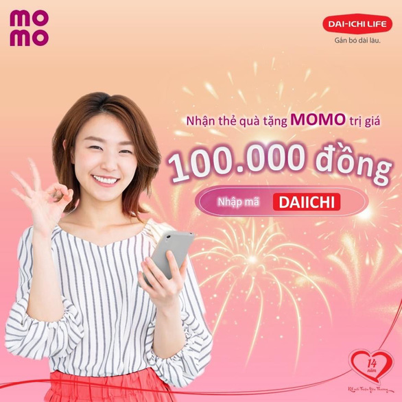 Khách hàng được tặng tiền khi trả phí bảo hiểm Dai-ichi Life Việt Nam qua MoMo - Ảnh 1.