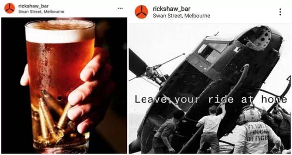 Người gốc Việt phẫn nộ với quán bar Úc trang trí phong cách chất độc da cam - Ảnh 1.
