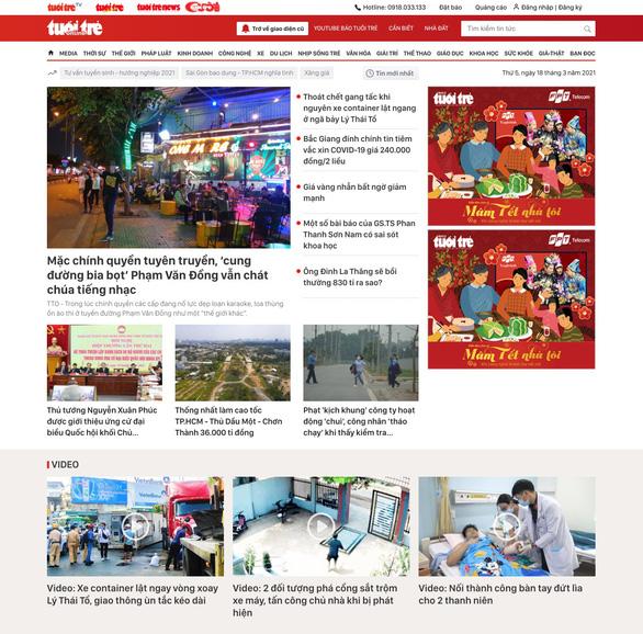 Mời bạn đọc góp ý giao diện mới của báo Tuổi Trẻ Online - Ảnh 1.