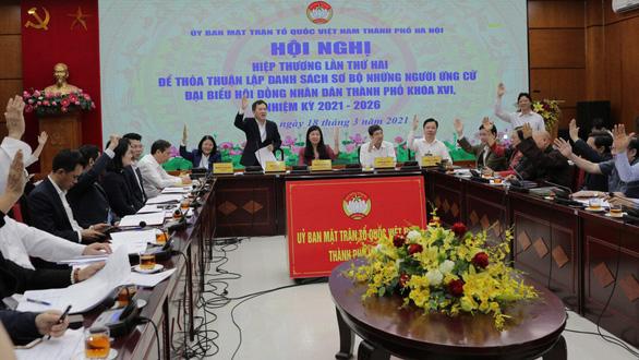 Hà Nội nhất trí danh sách sơ bộ 188 ứng viên đại biểu HĐND thành phố - Ảnh 1.