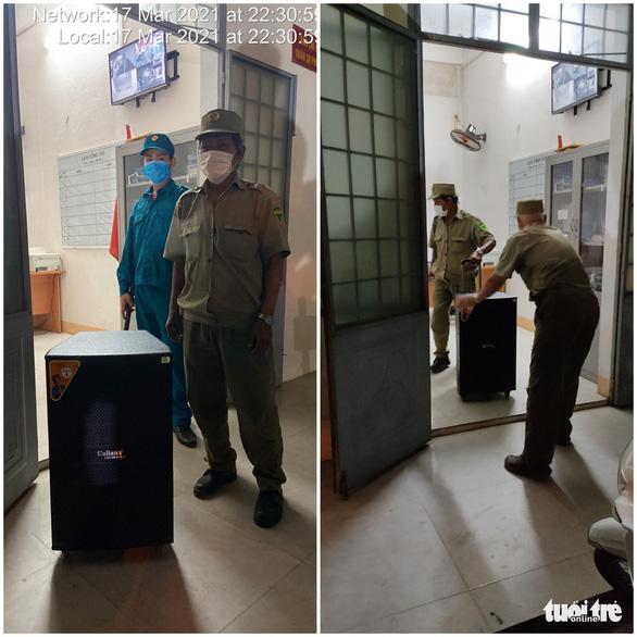 Đội phản ứng nhanh Đà Nẵng tạm giữ 2 loa mở nhạc ồn ào sau 22h - Ảnh 1.