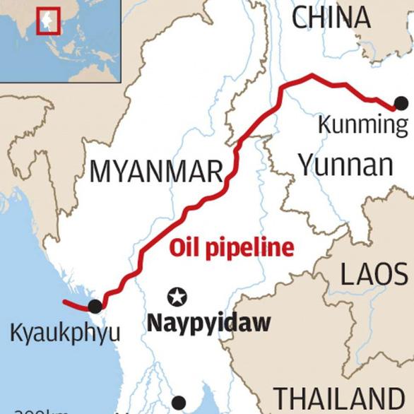 Đường ống dẫn dầu của Trung Quốc ở Myanmar bị dọa cho nổ tung - Ảnh 2.