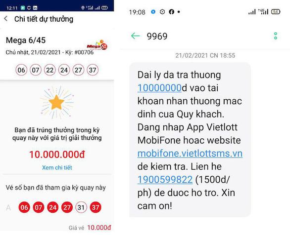 Hàng tỉ đồng đã được trả thưởng cho người chơi Vietlott qua điện thoại - Ảnh 3.