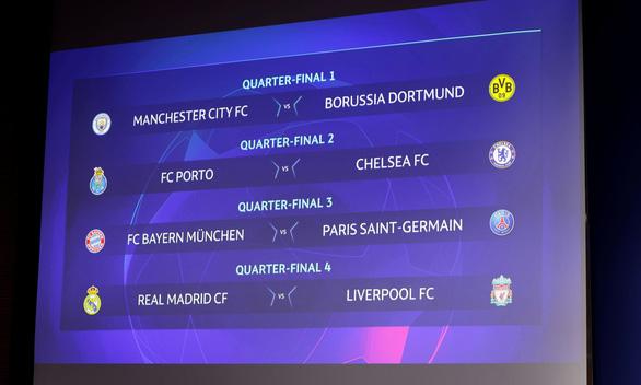 PSG đụng Bayern Munich, Real Madrid gặp Liverpool ở tứ kết Champions League - Ảnh 1.