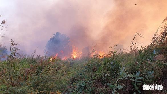Cháy lớn tại đồng cỏ trong Khu công nghệ cao gần Samsung - Ảnh 6.