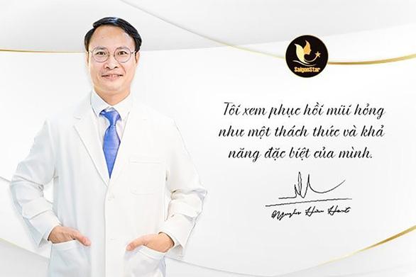 Bác sĩ Nguyễn Hữu Hoạt - chuyên gia phục hồi mũi hỏng nổi tiếng tại TP.HCM - Ảnh 1.