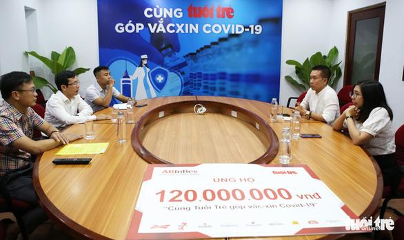 Công ty AB InBev ủng hộ 120 triệu đồng Cùng Tuổi Trẻ góp vắc xin COVID-19 - Ảnh 1.