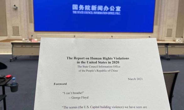 Trung Quốc tung sớm báo cáo nhân quyền về Mỹ - Ảnh 1.