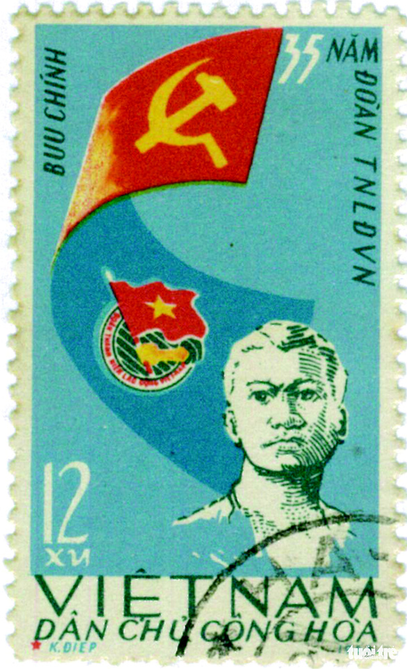 Những người anh hùng trẻ tuổi trên tem bưu chính - Ảnh 3.