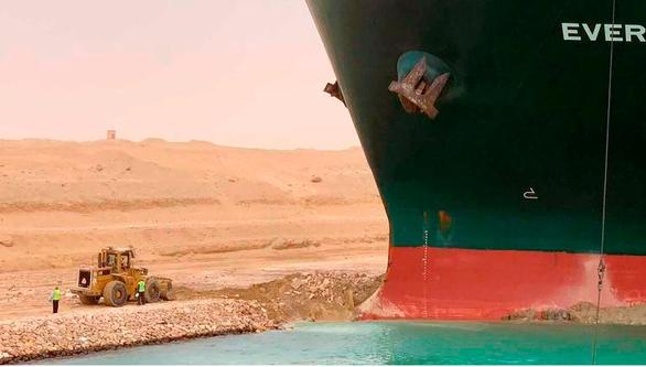 Tàu hàng chặn ngang kênh đào Suez, chủ tàu có thể phải đền hàng triệu đô - Ảnh 3.