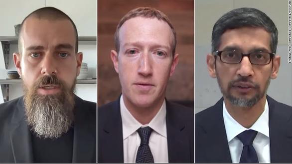 CEO Facebook, Google và Twitter điều trần dài 5 tiếng trước Hạ viện Mỹ - Ảnh 1.