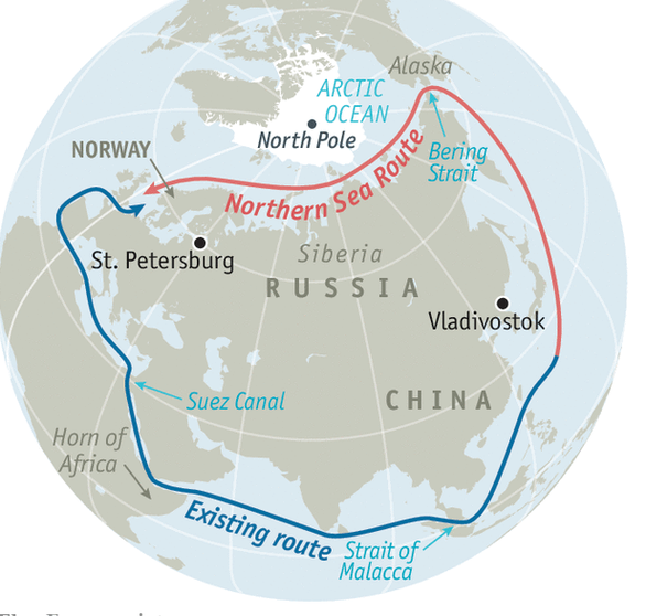 Kênh đào Suez tắc nghẽn, Nga đề xuất đi vòng qua Bắc cực - Ảnh 2.