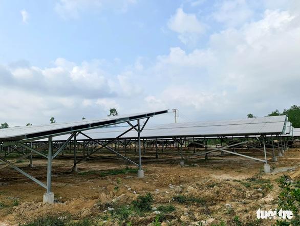 Lập dự án điện mặt trời mái nhà nông nghiệp nhưng bên dưới chẳng trồng gì - Ảnh 1.