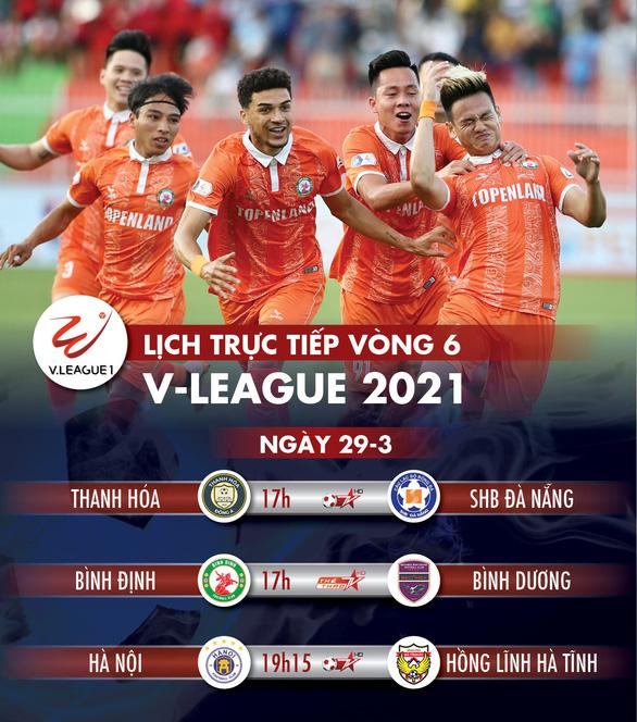 Lịch trực tiếp vòng 6 V-League 2021: Hà Nội gặp Hà Tĩnh - Ảnh 1.