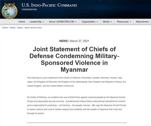 Chỉ huy quân đội 12 nước ra tuyên bố chung, lên án quân đội Myanmar - Ảnh 2.