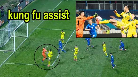 Ibrahimovic kiến tạo siêu đẳng kiểu kung-fu giúp Thụy Điển dẫn đầu bảng B - Ảnh 1.