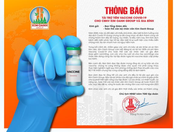 Kim Oanh Group tài trợ tiêm vaccine COVID-19 cho cán bộ nhân viên và gia đình - Ảnh 1.