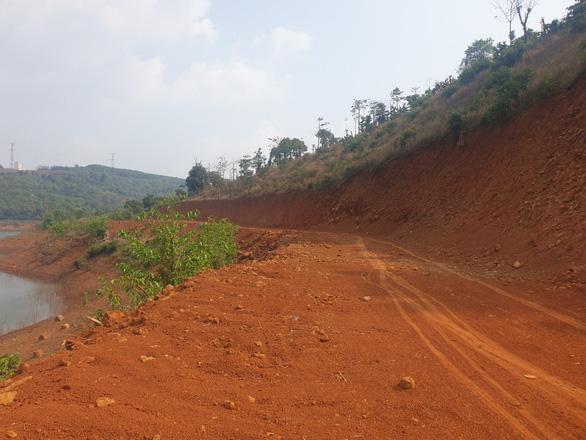 Tự ý san lấp 5.000m2 rừng phòng hộ thủy điện Đắk R'Tih - Ảnh 1.