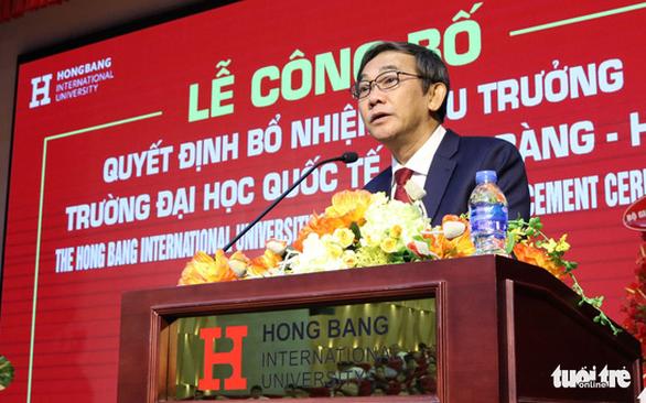 PGS.TS Hồ Thanh Phong thôi làm hiệu trưởng Trường ĐH Quốc tế Hồng Bàng - Ảnh 1.
