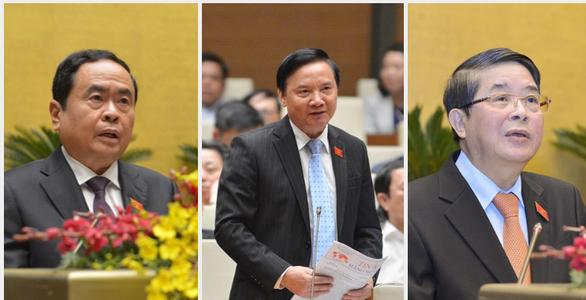 Trình nhân sự thay thế 3 phó chủ tịch Quốc hội vừa được miễn nhiệm - Ảnh 1.