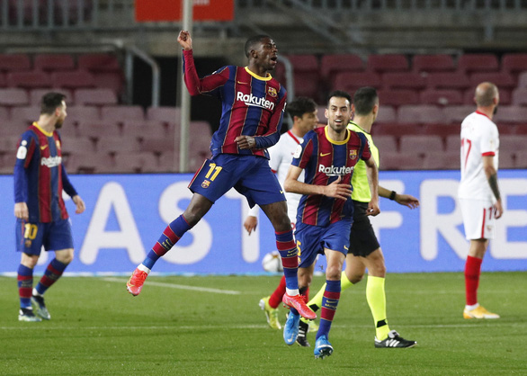 Hạ Sevilla trong hiệp phụ, Barcelona vào chung kết Cúp Nhà vua - Ảnh 1.