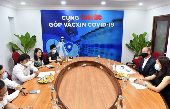 Doanh nghiệp nước ngoài đầu tiên ủng hộ 3 tỉ đồng Cùng Tuổi Trẻ góp vắc xin COVID-19 - Ảnh 1.