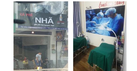 Dân báo tin, Sở Y tế TP.HCM thấy được một cơ sở thẩm mỹ trá hình cà phê - Ảnh 1.