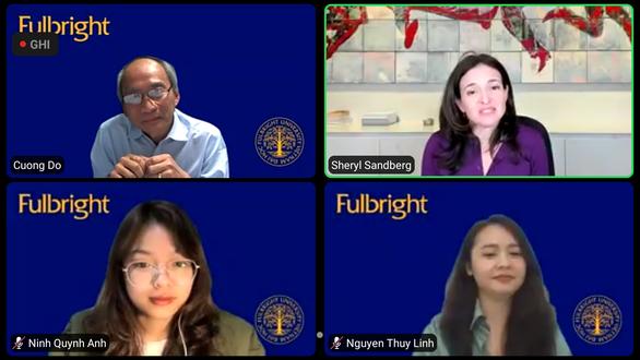 Giám đốc điều hành Facebook nói chuyện trực tuyến cùng sinh viên Việt Nam - Ảnh 1.
