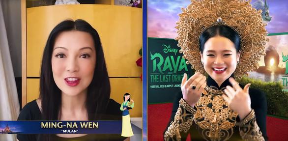 Sao gốc Việt mặc áo dài, đội mấn trên thảm đỏ Hollywood - Ảnh 3.