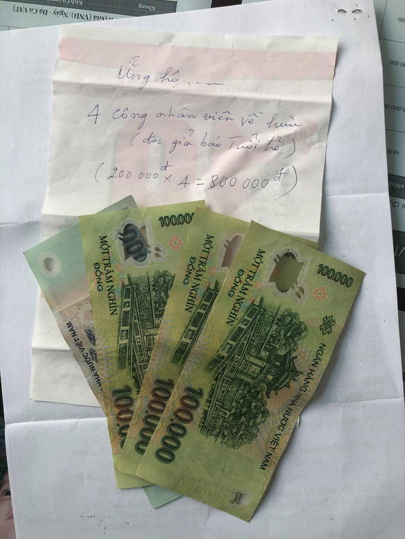 4 bà già tụi tui góp lại nhờ báo Tuổi Trẻ mua thuốc ngừa COVID - Ảnh 3.