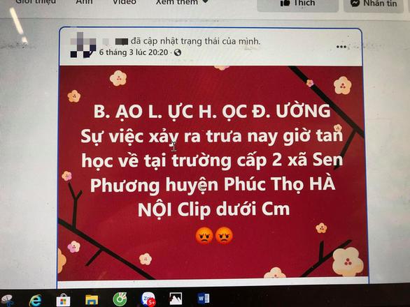 Nữ sinh ở Hà Nội bị đánh hội đồng vì tin nhắn trên Facebook - Ảnh 1.