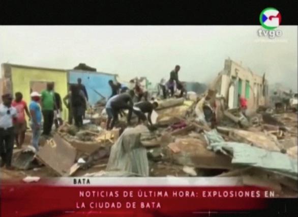 Nổ kho chứa đạn quân đội ở Guinea Xích Đạo: 20 người chết, 600 người bị thương - Ảnh 1.