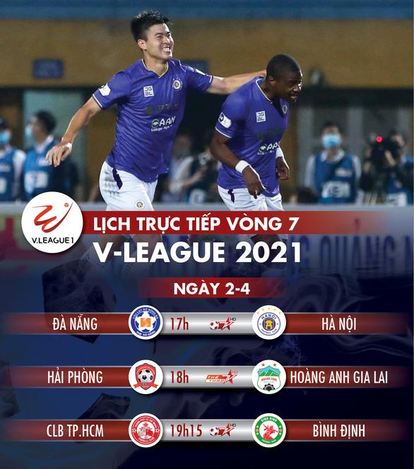 Lịch trực tiếp vòng 7 V-League 2021: Hải Phòng gặp HAGL, Đà Nẵng đụng Hà Nội - Ảnh 1.
