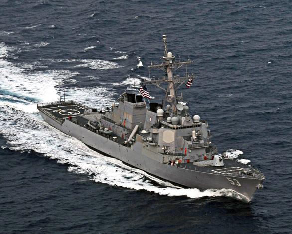 Tàu chiến Mỹ thách thức yêu sách hàng hải quá mức của Ấn Độ - Ảnh 1.