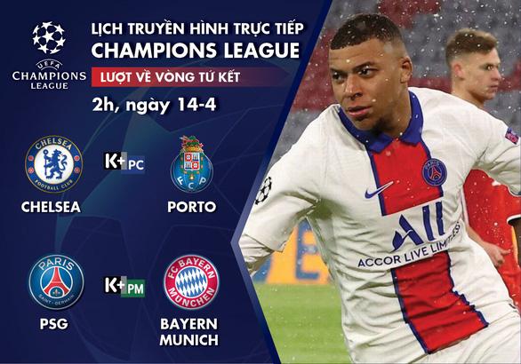 Lịch trực tiếp Champions League: Bayern gặp PSG, chờ Hùm xám ngược dòng - Ảnh 1.