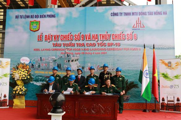 Việt Nam hạ thủy, đặt ky tàu tuần tra theo gói tín dụng quốc phòng Ấn Độ - Ảnh 1.