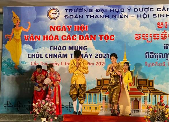 Tổ chức Tết cổ truyền Chol-Chnam-Thmay cho sinh viên, học viên Campuchia học ngành y - Ảnh 1.