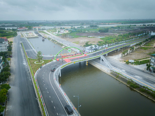 Khánh thành cầu đẹp nhất Hải Dương - Ảnh 1.