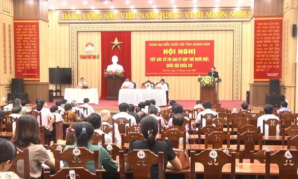 Phó chủ tịch Quốc hội Nguyễn Đức Hải tiếp xúc cử tri tại Quảng Nam - Ảnh 2.