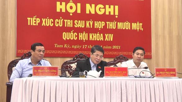 Phó chủ tịch Quốc hội Nguyễn Đức Hải tiếp xúc cử tri tại Quảng Nam - Ảnh 1.