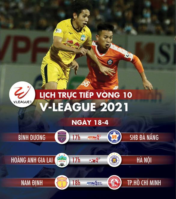 Lịch trực tiếp vòng 10 V-League: Đai chiến HAGL - Hà Nội, hấp dẫn cực độ - Ảnh 1.