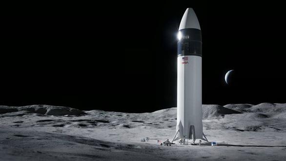 NASA hợp đồng với Space X phát triển tàu vũ trụ đưa người lên Mặt trăng - Ảnh 1.