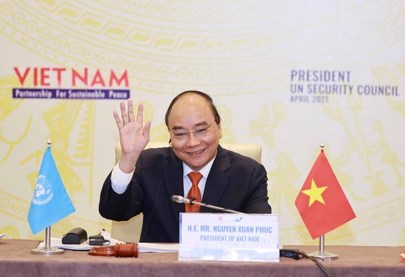 Họp Hội đồng Bảo an, Chủ tịch nước Nguyễn Xuân Phúc kêu gọi xây dựng lòng tin và đối thoại - Ảnh 1.